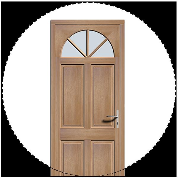 Leul Menuiseries réalise des portes d'entrée en bois
